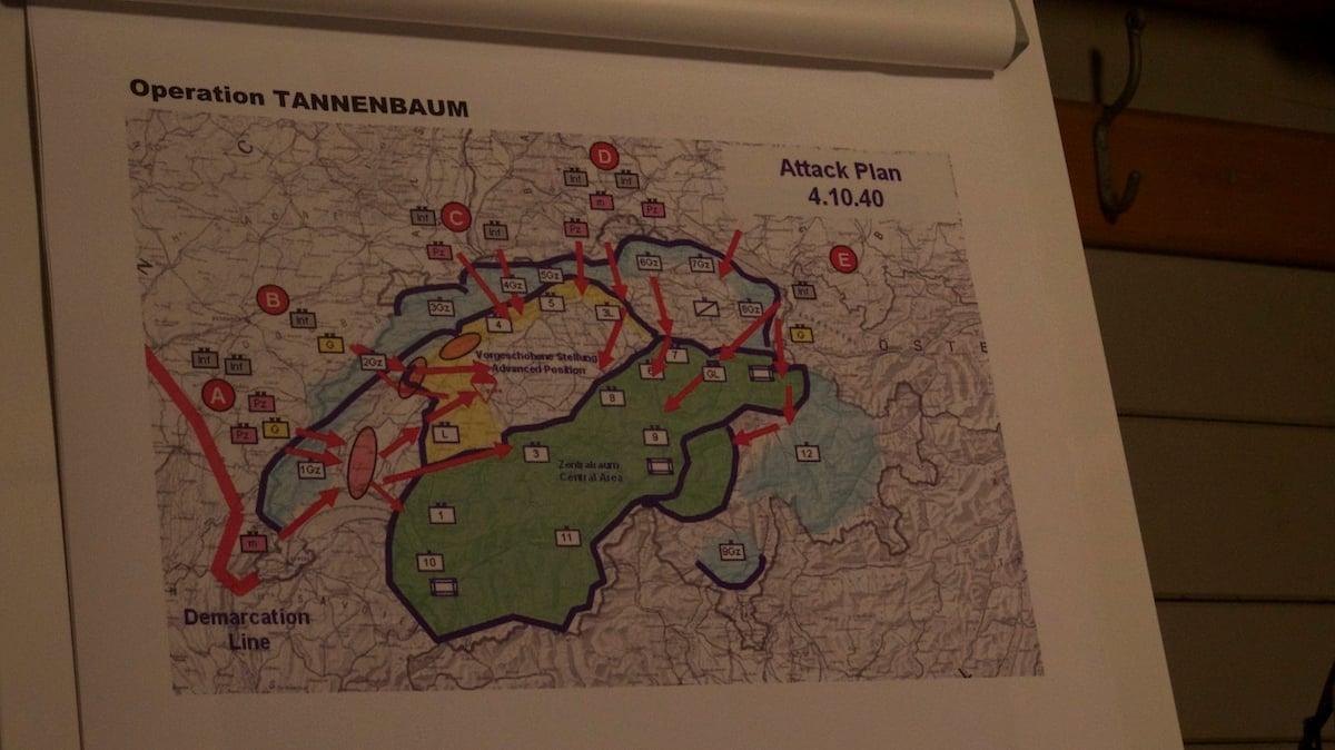Angriffsplan der deutschen Wehrmacht von 1940.