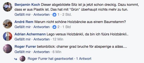 Die Kommentare unter Peter Withs Post auf Facebook.