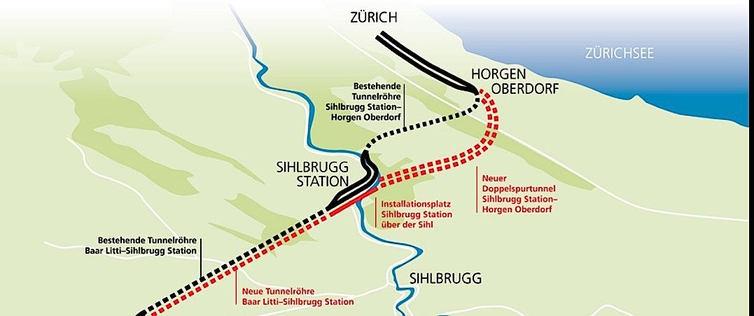 So muss man sich den Tunnelausbau «Zimmerberg light» vorstellen.