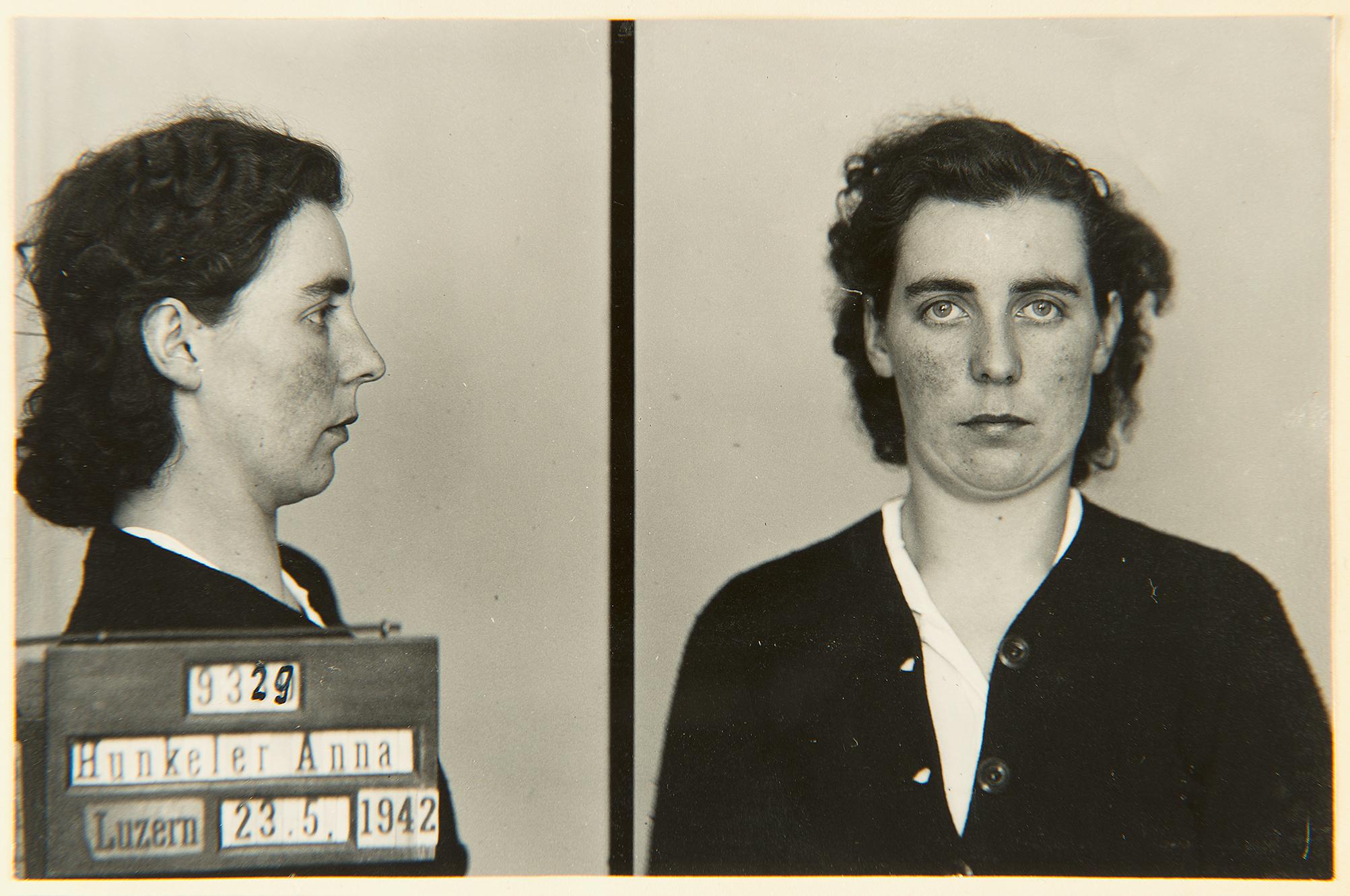 Anna Hunkeler-Bucheli, Fotografische Delinquenten-Sammlung, 23. Mai 1942