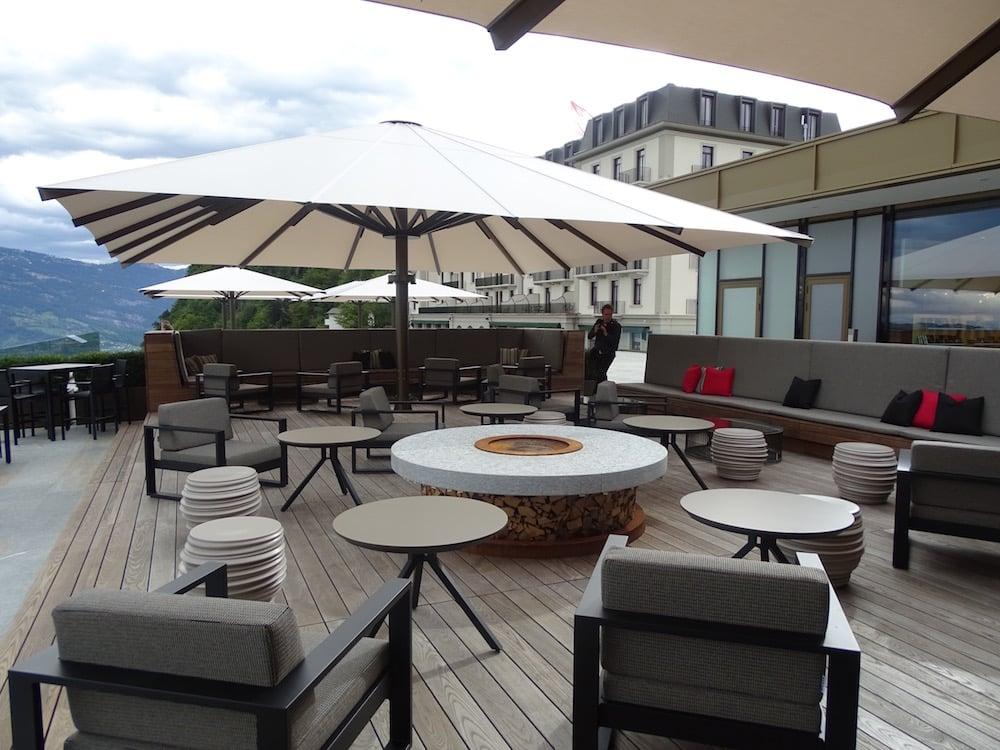 Die Terrasse des Fünf-Sterne-Hotels.