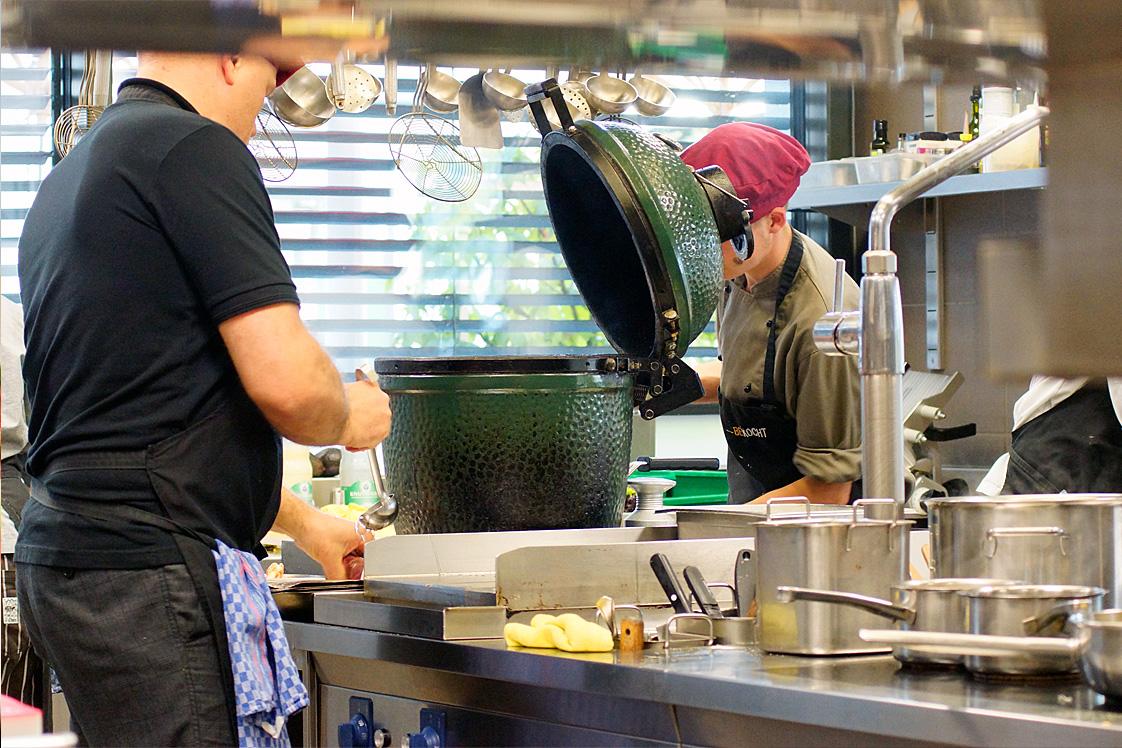 Blick in die Küche im «amrein'S».