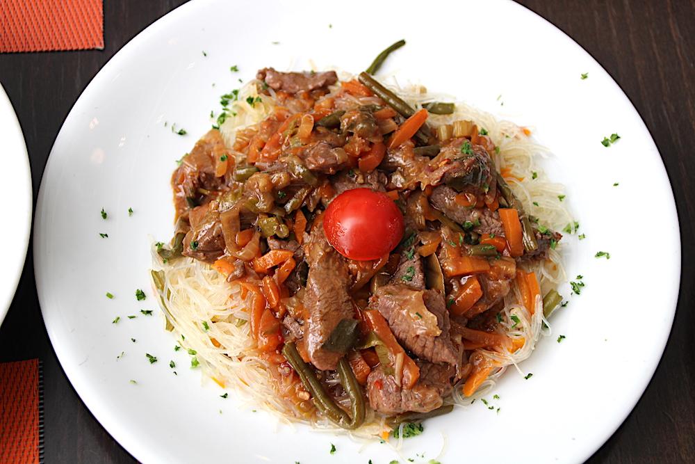Diese asiatische Gemüse-Rindfleisch-Pfanne mundete Hubert Erni gar nicht.