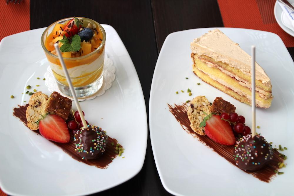 Teils sehr kalorienreich, die Desserts in der Andreas-Klinik.