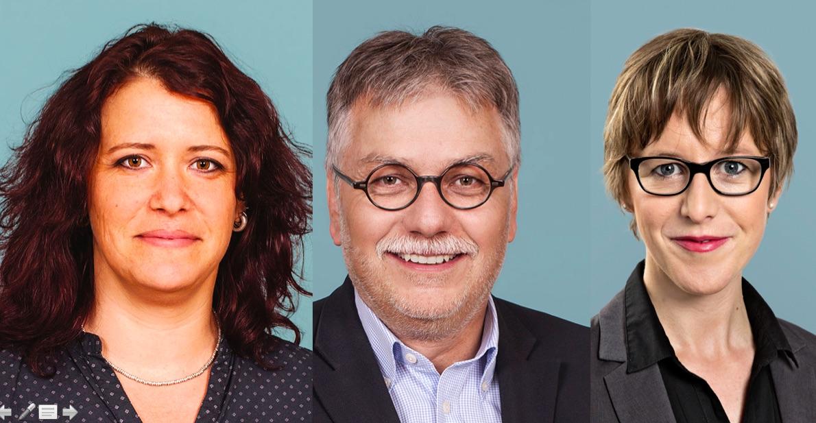 Die SP nominiert erst in einem halben Jahr. Mögliche Kandidaten für den Stadtrat: Karin Hägi (links), Urs Bertschi, Barbara Gysel.