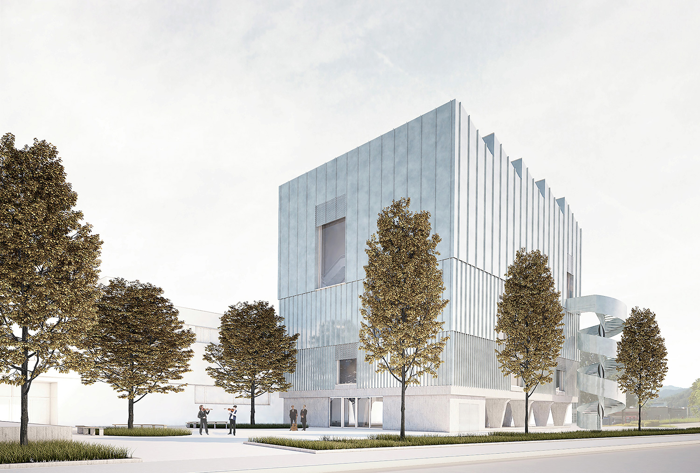 So soll der Neubau des Sinfonieorchesters aussehen – im Hintergrund der Südpol.