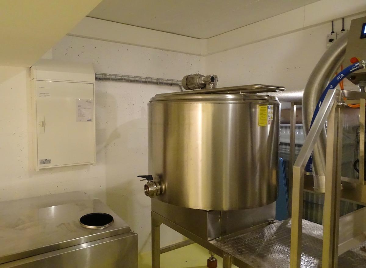 So sieht der 500-Liter-Tank aus, in dem Mumenthaler sein Bier braut.