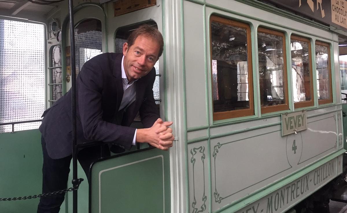 Liebt antike Bahnen wie hier aus Vevey: André Küttel war fünf Jahre im Verwaltungsrat der Rigi-Bahnen.