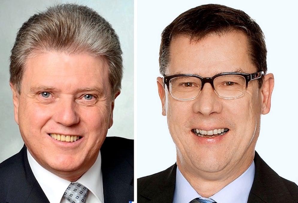 Nicht gleicher Meinung: Die Fraktionschefs der SVP, Guido Müller (links), und der CVP, Ludwig Peyer (rechts).
