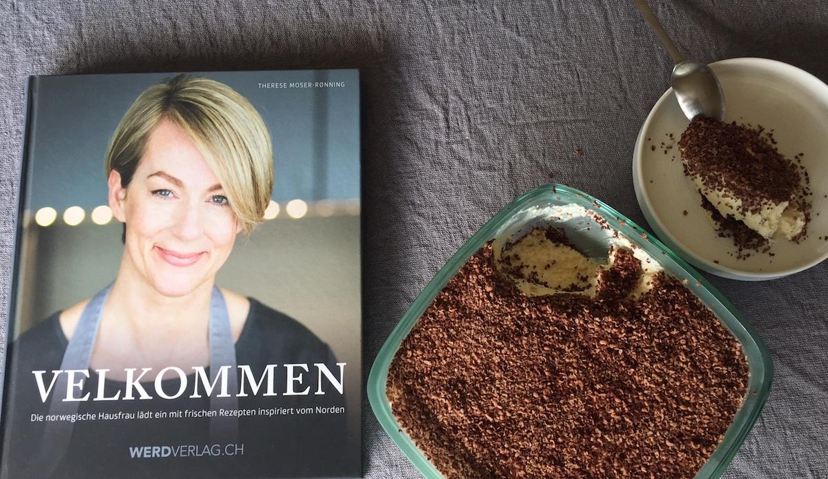 Süss und sinnlich: das Dessert, das «Königin Maude»heisst, und das Buch, das «Willkommen» heisst.