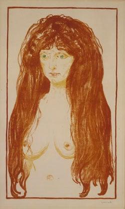 Edvard Munch: «Die Sünde», Lithographie, 1901