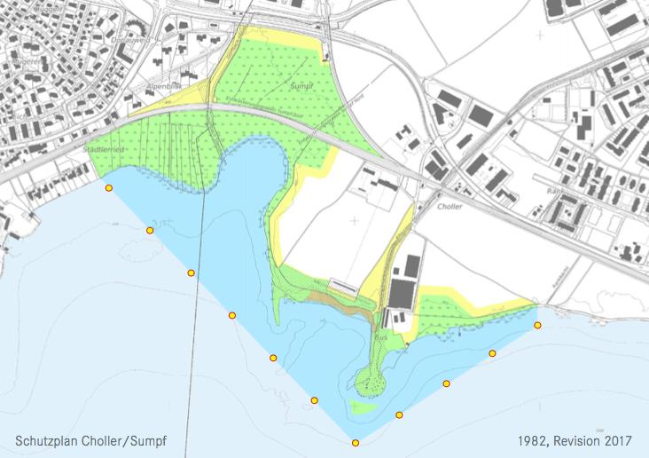 Grün: Naturschutzgebiete, blau: neue Fahrverbotszone, die nicht für Berufsfischer gilt.
