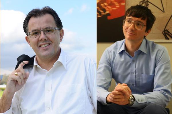 Peter Schilliger, FDP-Nationalrat (links) und Timo Ohnmacht, Mobilitätsexperte.