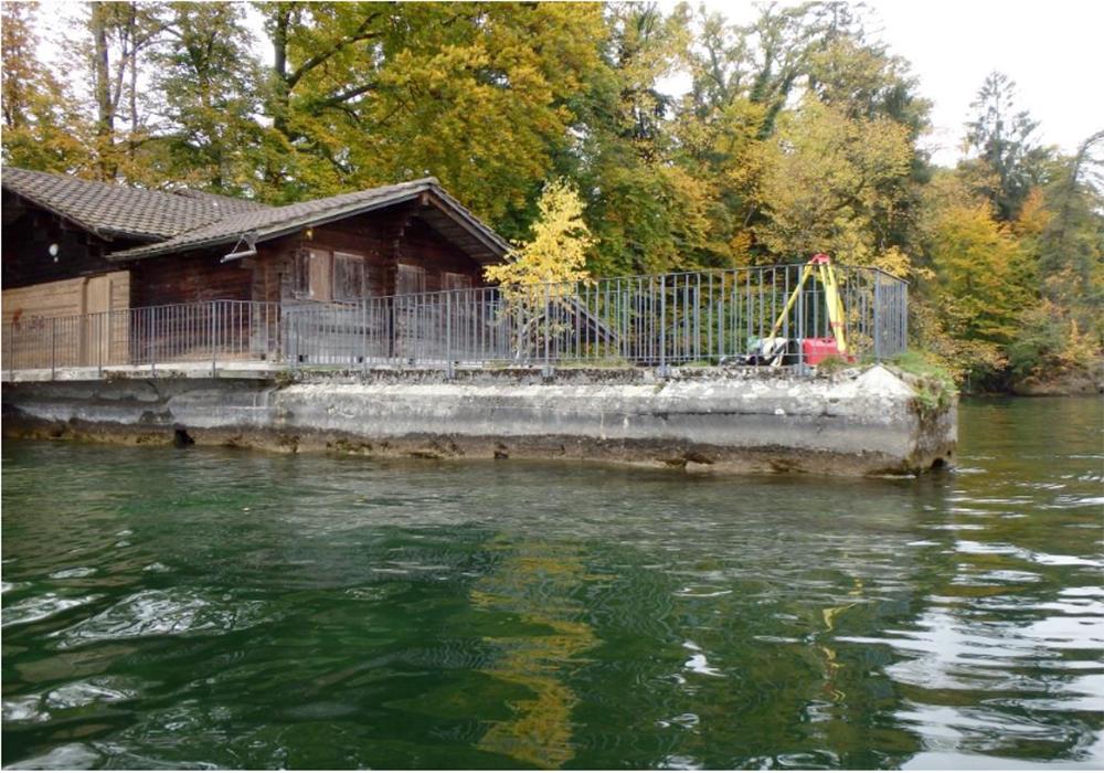 Das Bootshaus der Villa Krämerstein.