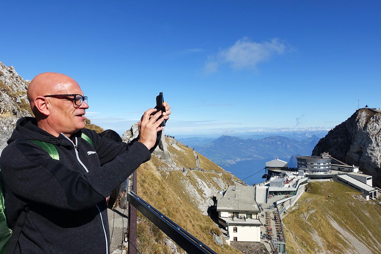 Ashley Slater lebt in Brighton, die Aussicht vom Gipfel beeindruckt ihn.