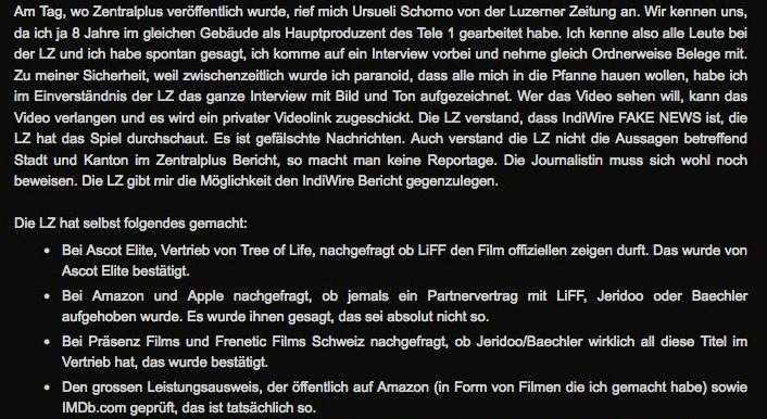Screenshot von Guido Baechlers Blogeintrag