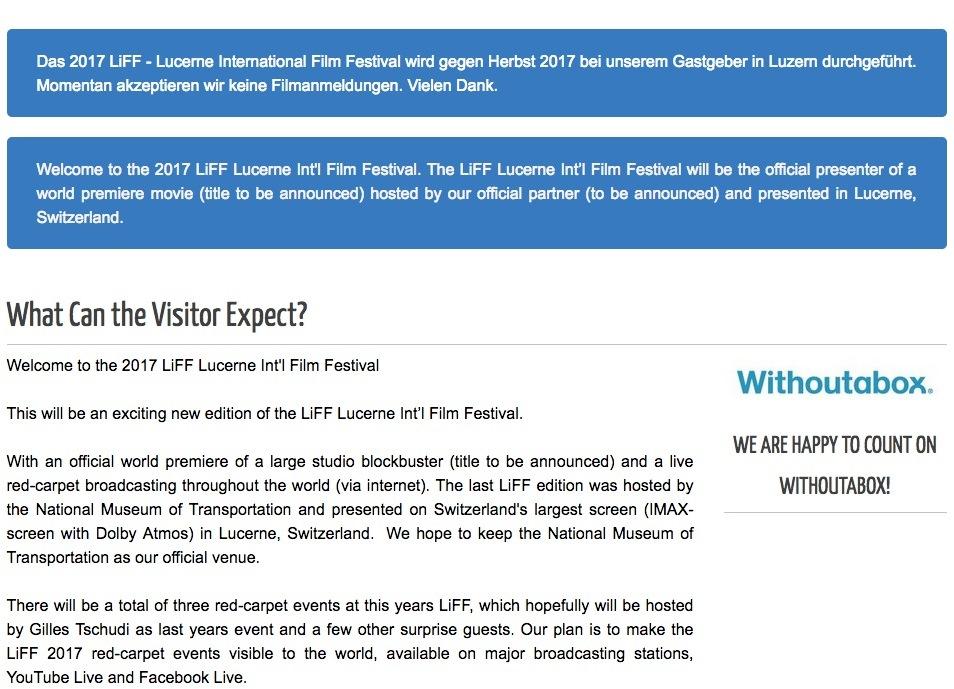 Screenshot der Liff-Webseite vom 5. Oktober 2017