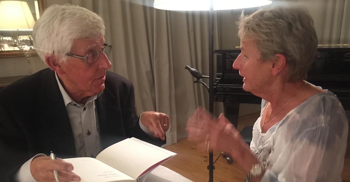 Professor und Ex-Studentin: Peter von Matt mit Marianne Iten aus Luzern.
