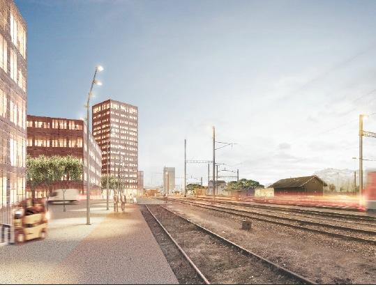 So könnte das Areal beim Bahnhof Rothenburg dereinst aussehen.