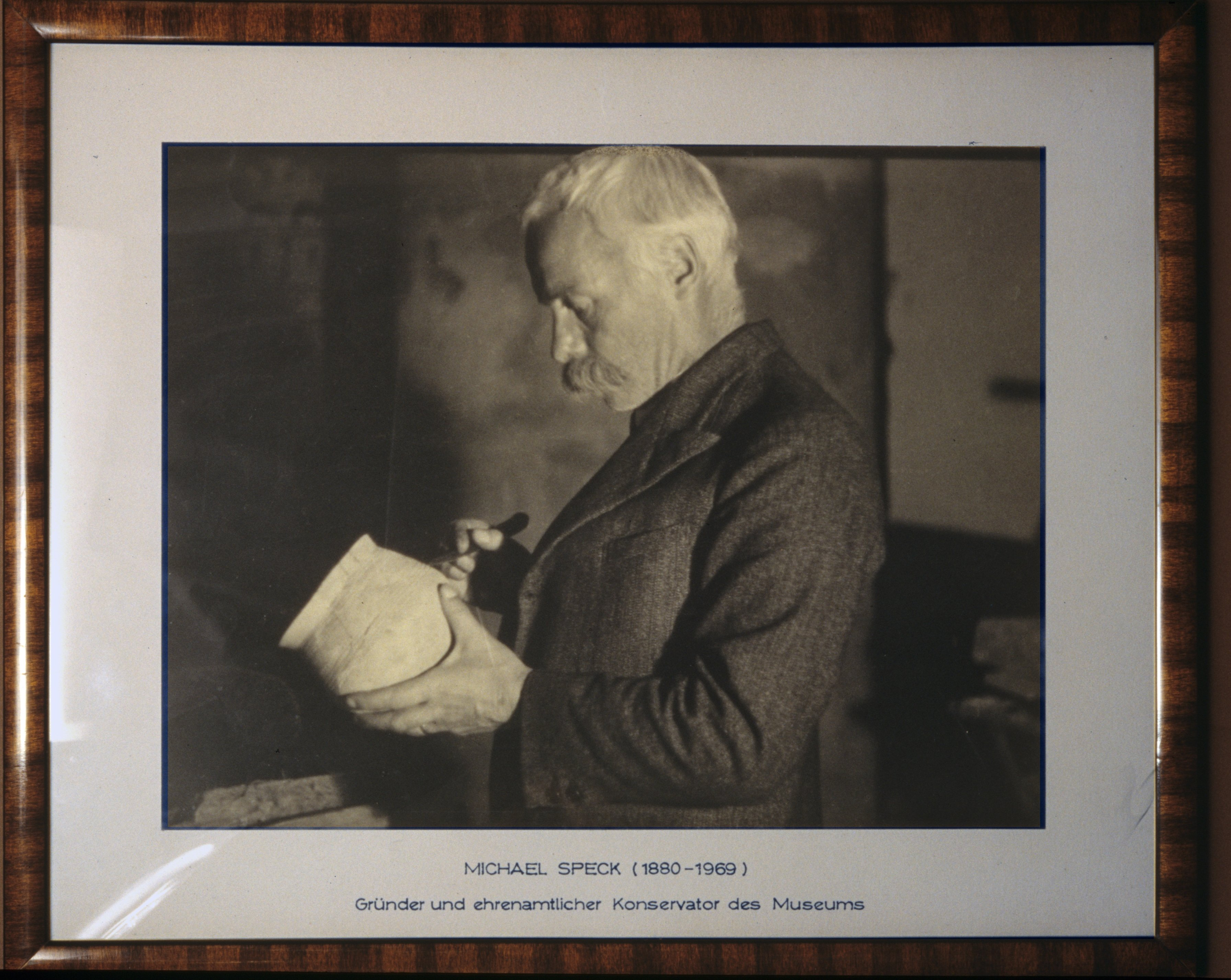 Michael Speck, der Gründer des Zuger Museums für Urgeschichte.