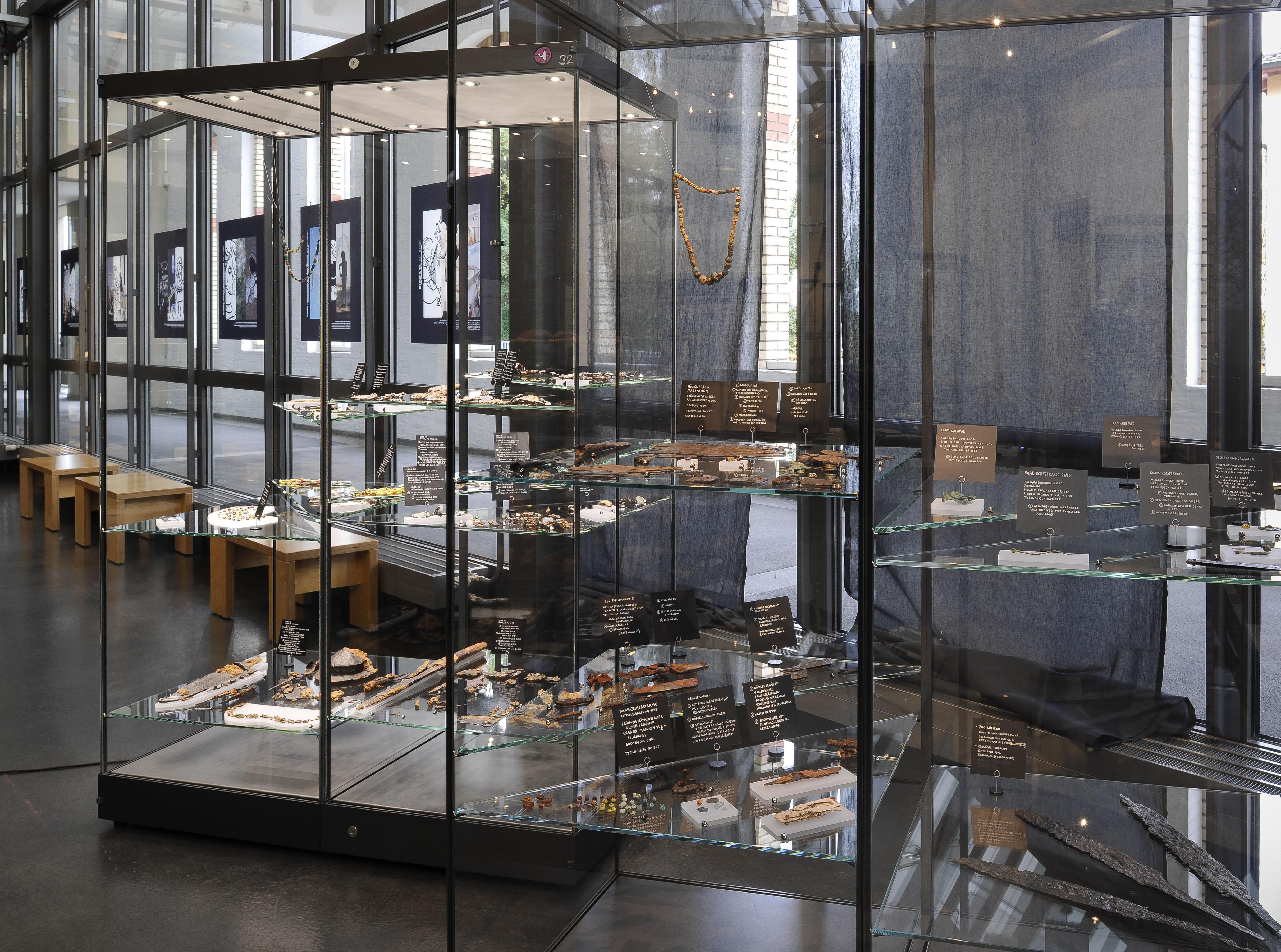 Der eben neu eingerichtete Ausstellungsteil zum Frühmittelalter.