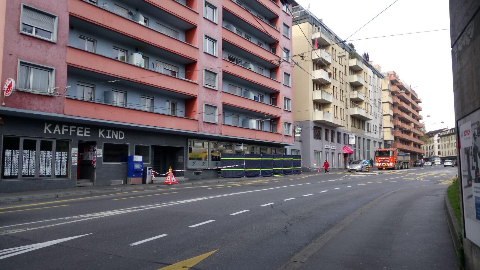 So sah es am Donnerstagmorgen an der Baselstrasse aus.