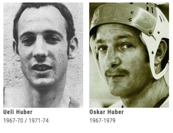 Die Zuger Huber-Brüder, welche den Anfang der EVZ-Geschichte mitprägten.