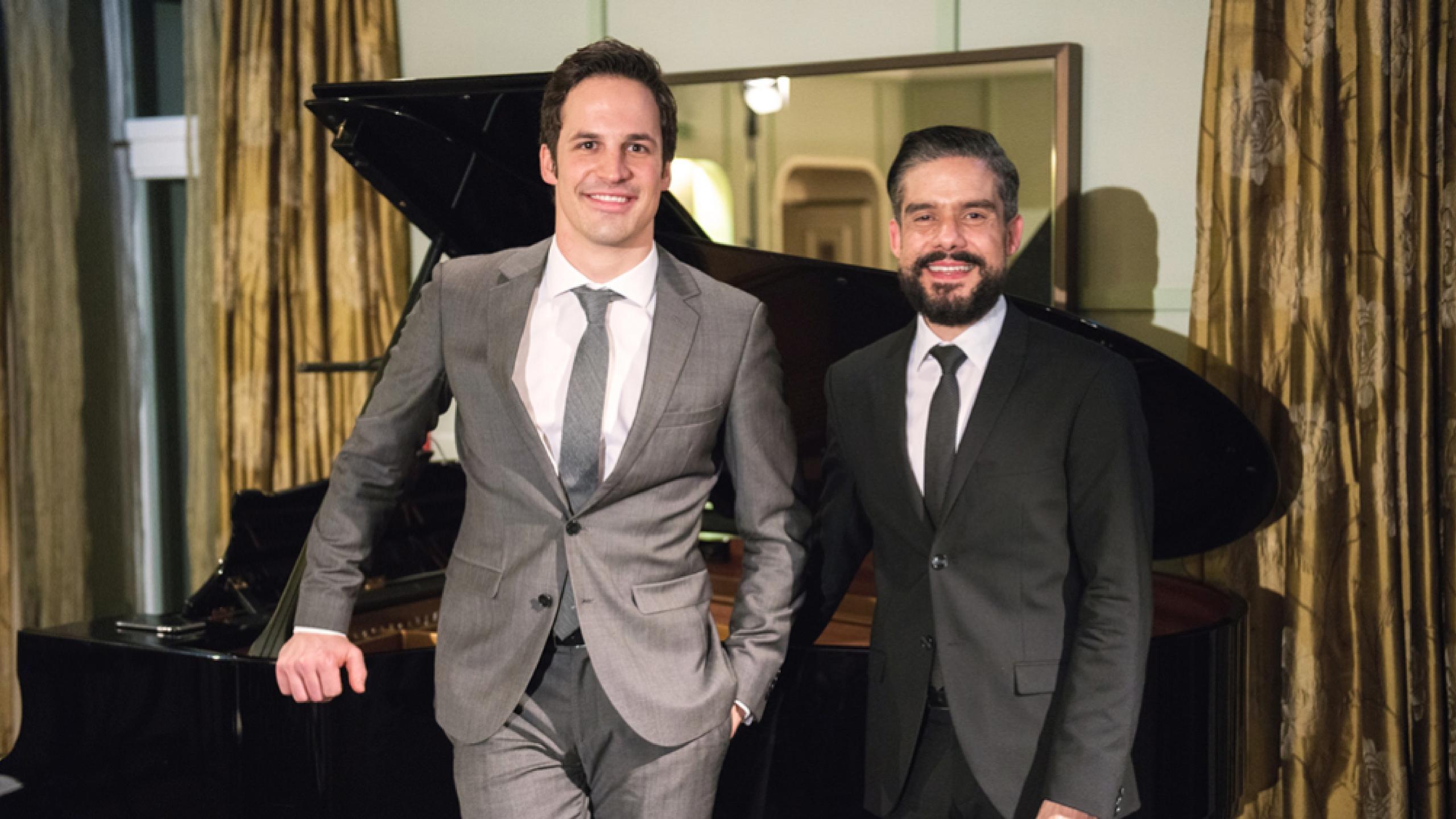 Die künstlerischen Leiter des Bürgenstock Festivals: Andreas Ottensamer, Solo-Klarinettist der Berliner Philharmoniker, und der argentinische Pianist José Gallardo.