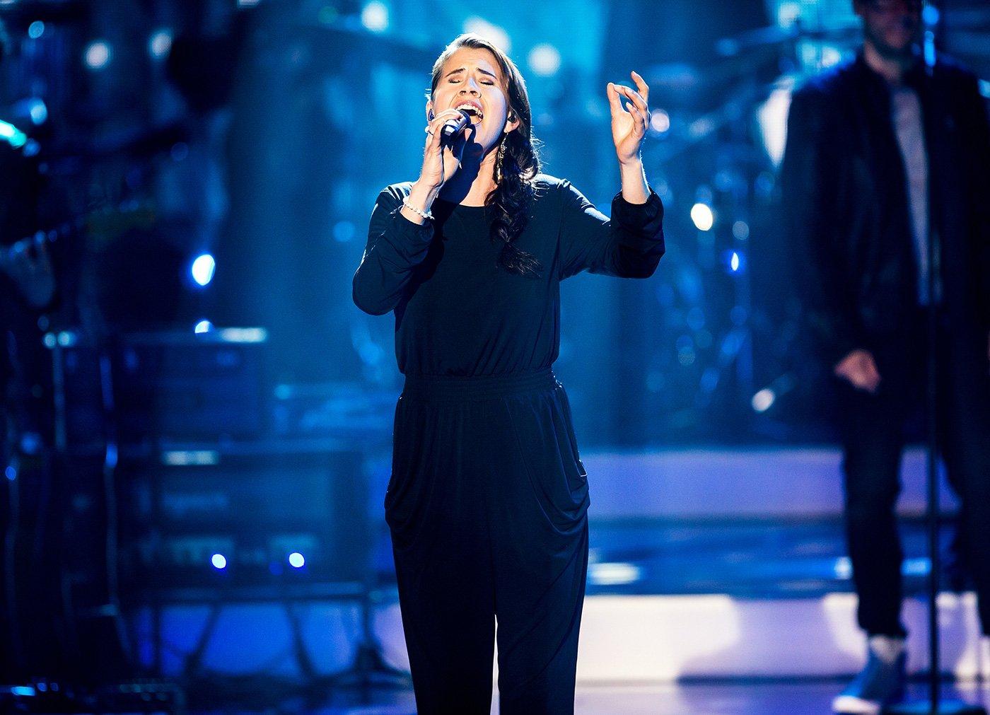 Die Luzernerin Eliane Müller in der SRF-Sendung «Ich schänke dir es Lied» im März 2017.