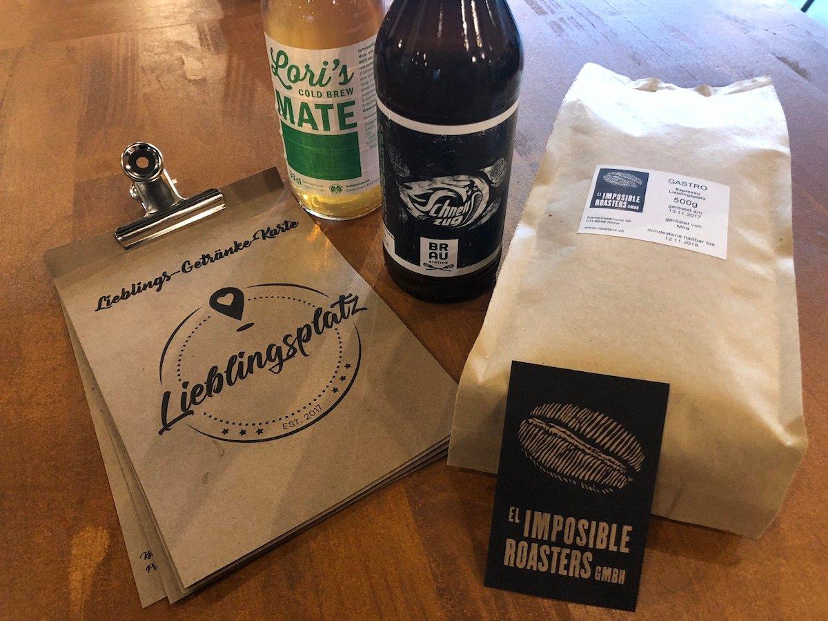 Lokale Lieferanten: Der Kaffee kommt aus Horw, Limonaden aus Luzern und das Bier aus Sursee.