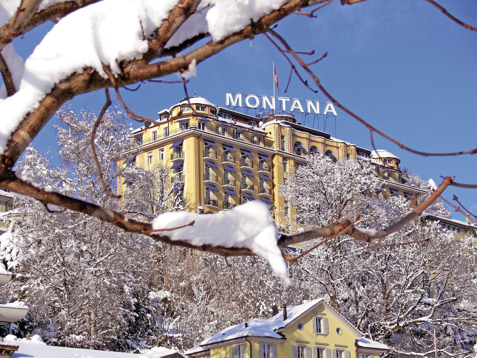 Das Art-Deco-Hotel Montana.