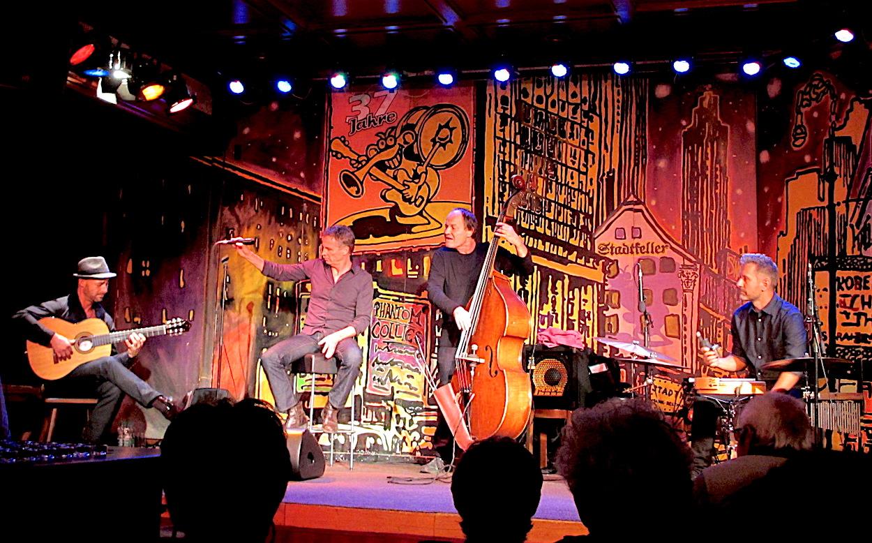Die hochkarätige Band sorgte für eine lebendige Interpretation der Matter-Songs (von links): Nick Perrin, Ueli Schmezer, Michel Poffet und Andi Pupato.