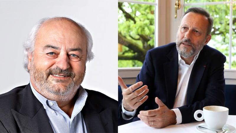 Gehören zu den reichsten Zugern. Andy Rhis (links) und Daniel Vasella.
