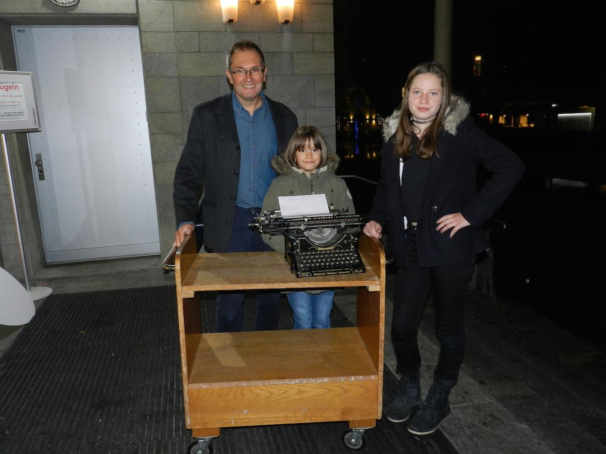 Sogar die alte Schreibmaschine fand neue Besitzer.