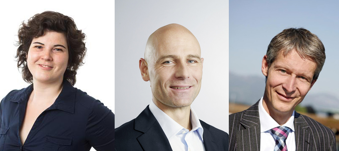 Korintha Bärtsch, Jürg Stettler (Mitte) und Marcel Perren.