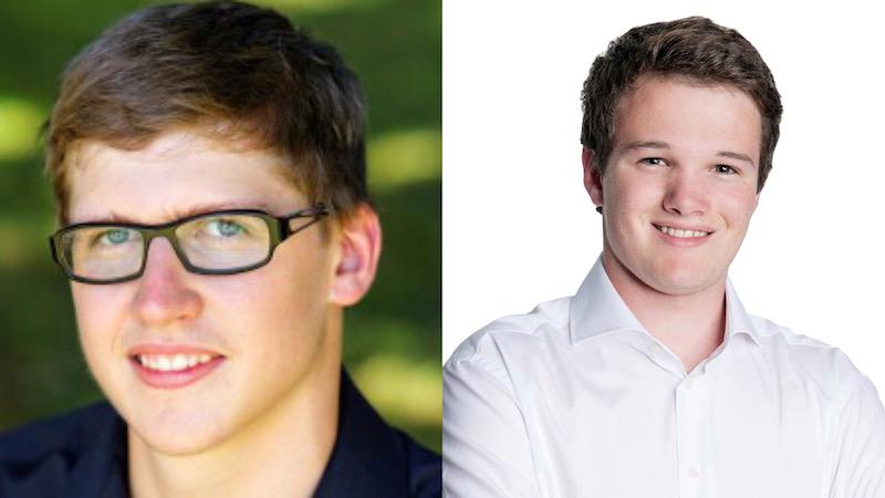 Sehen keinen raschen Bedarf für das E-Voting: Jona Studhalter (Co-Präsident Junge Grüne Luzern, links) und Ramon Bisang (Jungfreisinnige Luzern).