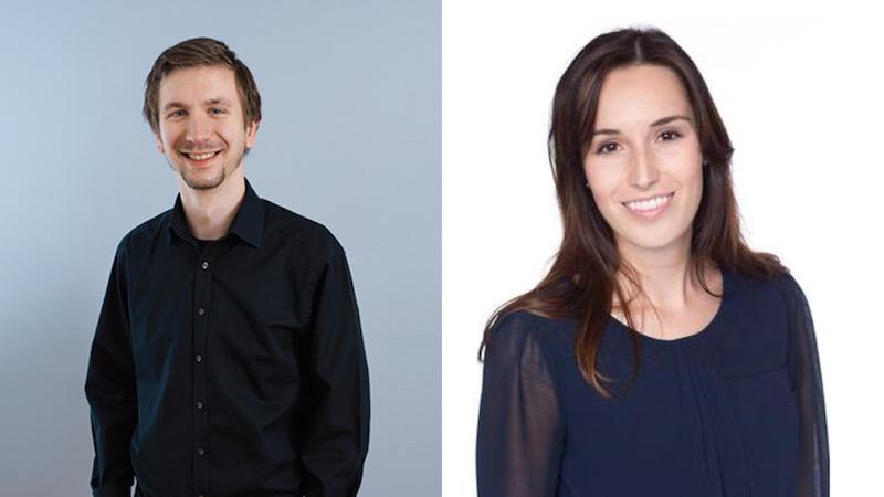 Sind sich nicht ganz einig, wie wichtig E-Voting in Zukunft sein wird: Lukas Schumacher (Vizepräsident Juso, links) und Karin Stadelmann (Präsidentin JCVP Stadt Luzern).