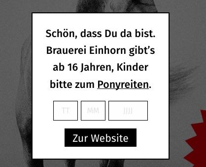 Homepage von Einhorn Bräu.