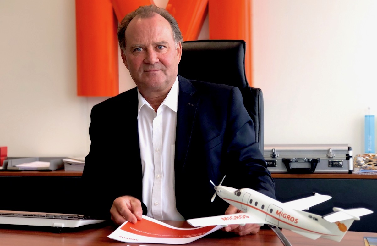 Er möchte mit seinem «Migros-Jet» sein Unternehmen weiter abheben lassen: Felix Meyer.