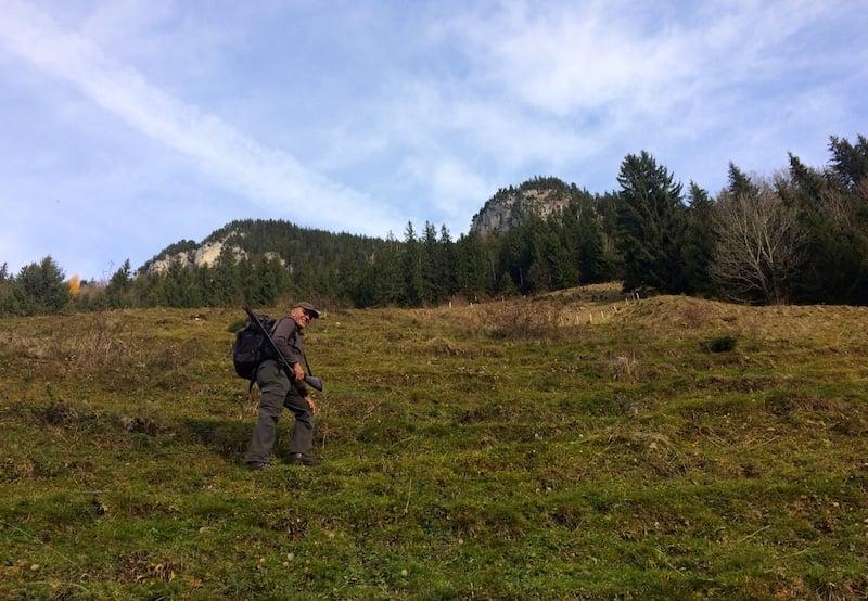 Steiler Aufstieg am Kragenberg.