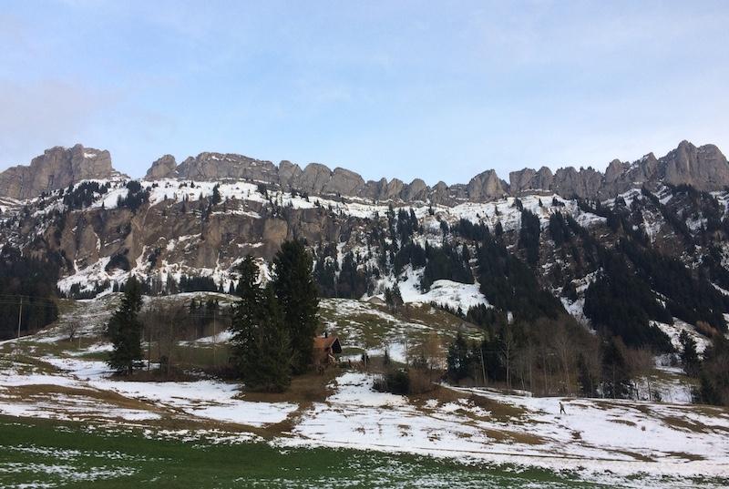 Die Aussicht von der Jagdhütte kann sich sehen lassen.