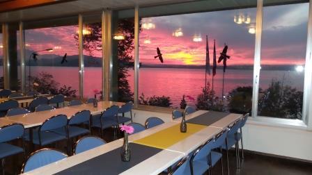 Sonnenuntergang im Lokal des türkischen Vereins