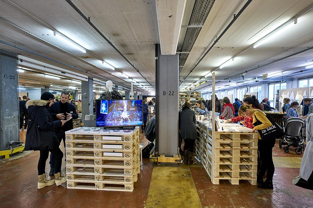 Das Provisorium in der Viscosistadt war einer der neuen Räume des DesignSchenken.