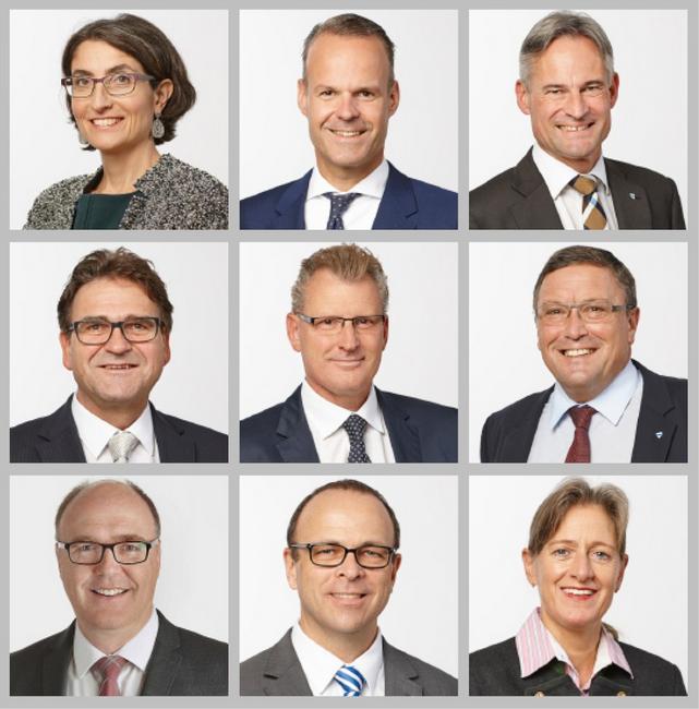 So präsentiert sich der Zuger Regierungsrat auf der aktuellen Homepage.