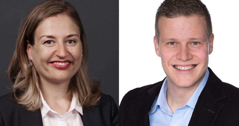 NZZ-Mediensprecherin Myriam Käser und CVP-Kantonsrat Daniel Piazza.