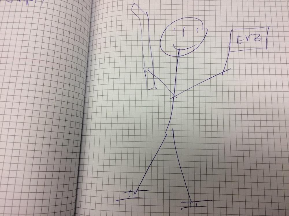 Schnyders «Selbstporträt» mit EVZ-Fahne und Hockeystock.