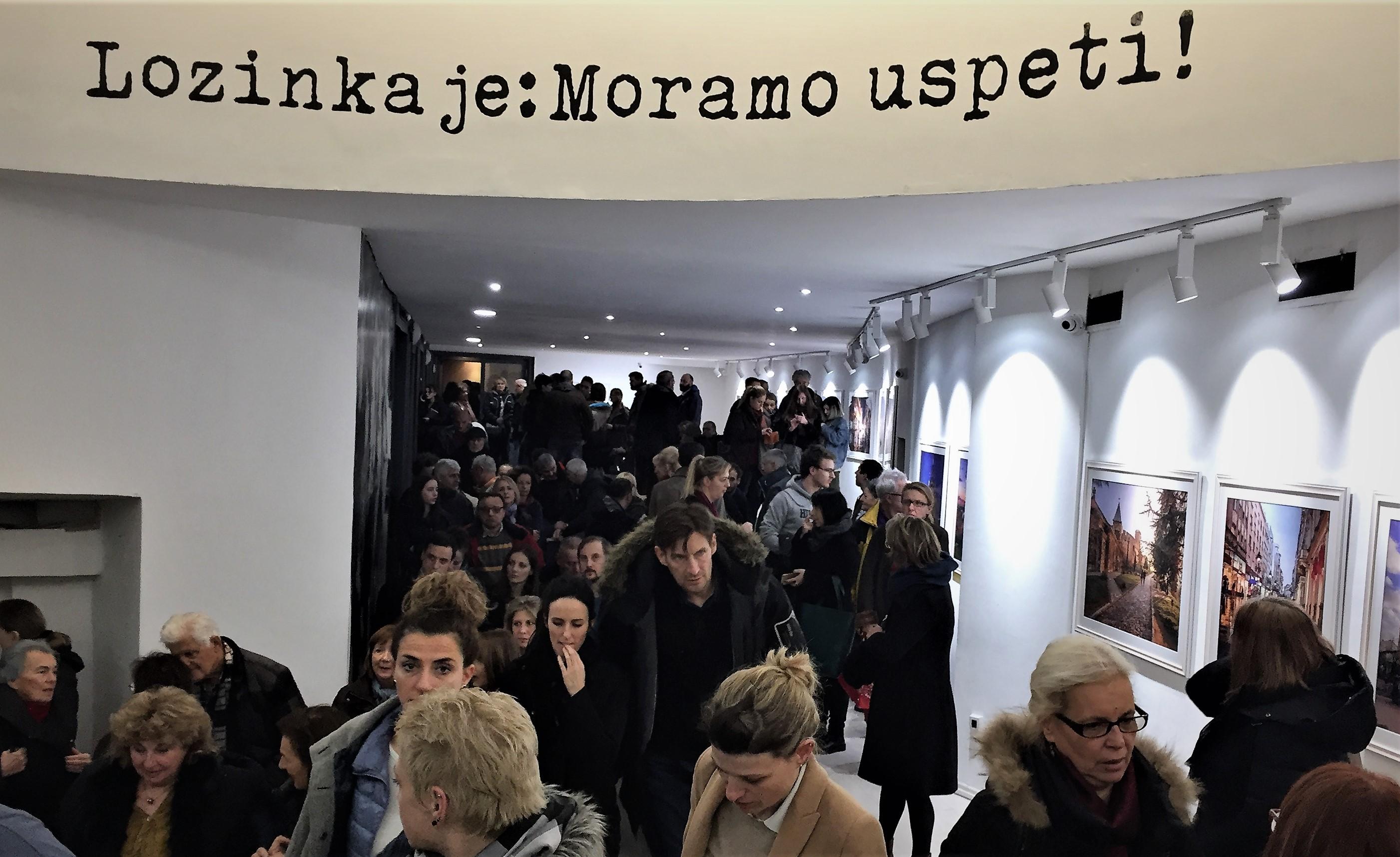 Der Eingangsbereich des Kulturzentrums Belgrad: Es muss gelingen.