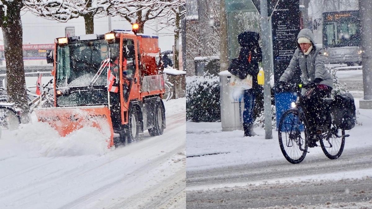 Widrige Umstände heute Morgen in Luzern.