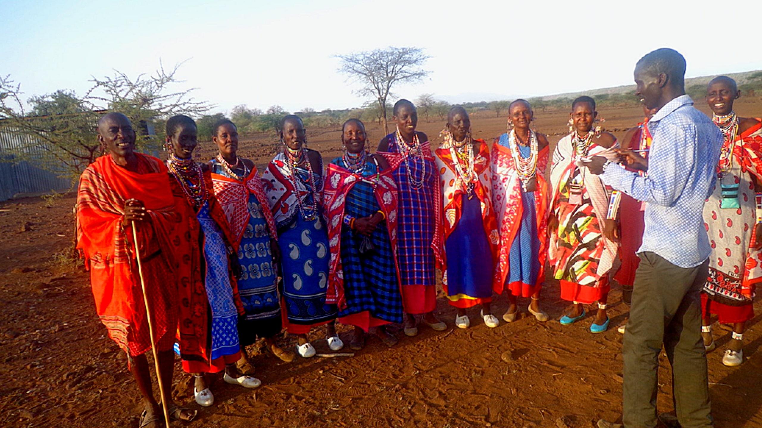 Kenianischen Maasai.