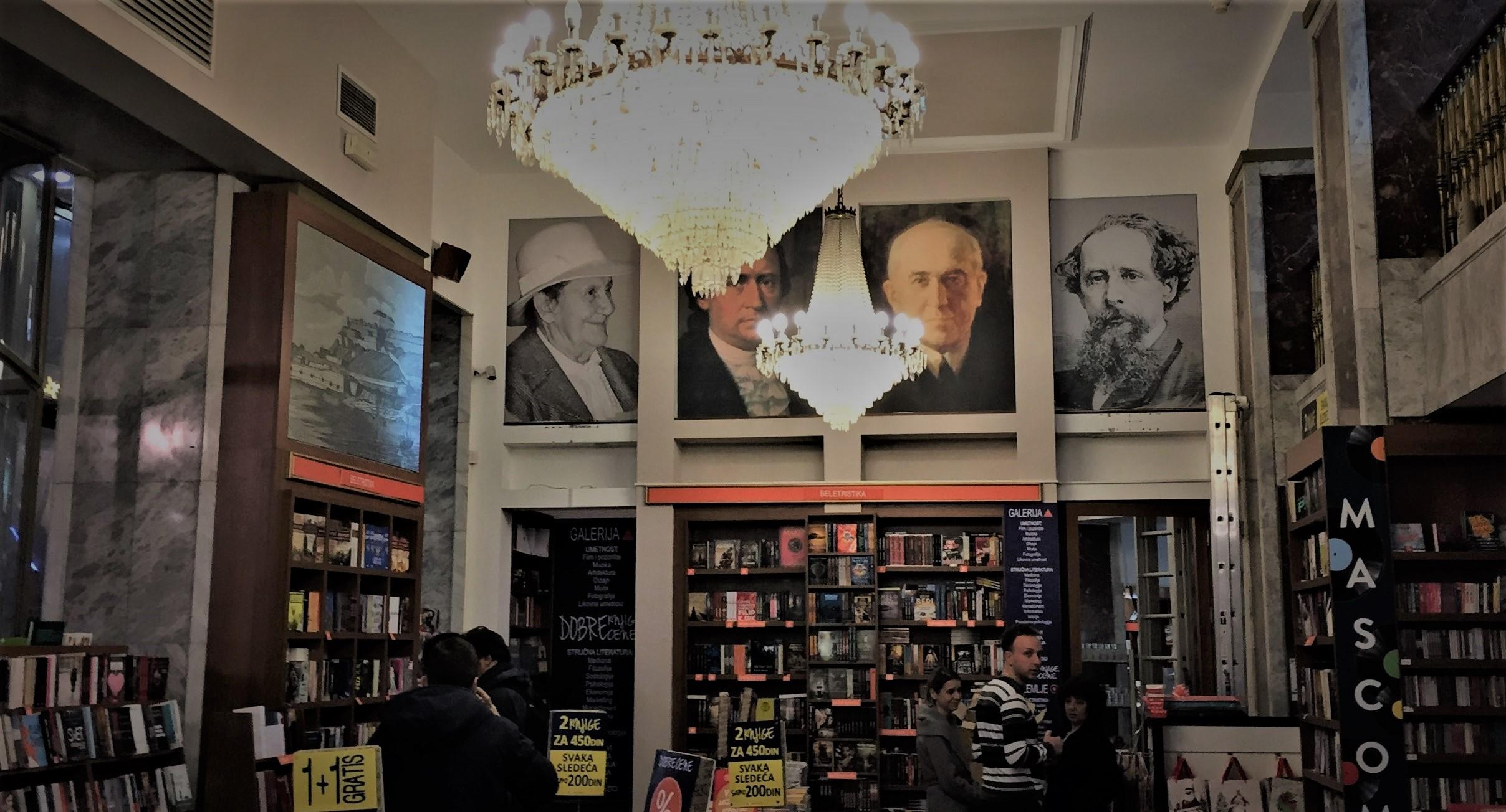 Prächtige Buchhandlung in der Altstadt von Belgrad.